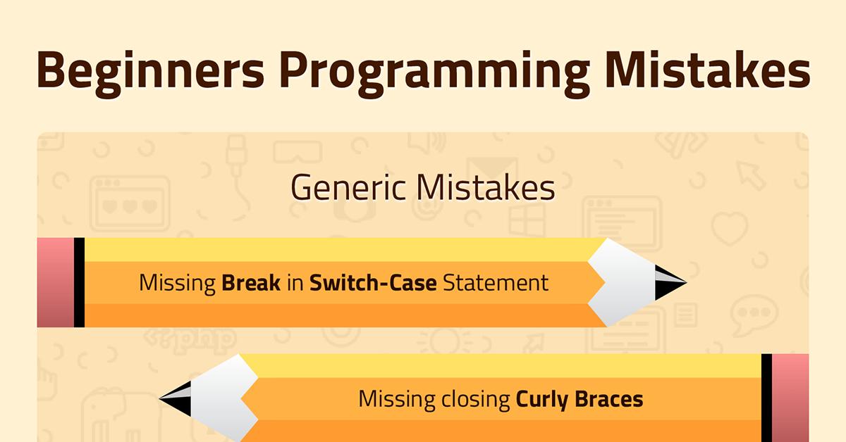 Beginners Programming Mistakes   TechnoLush