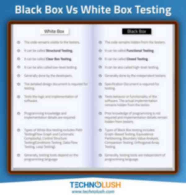 Black Box Vs White Box Testing
