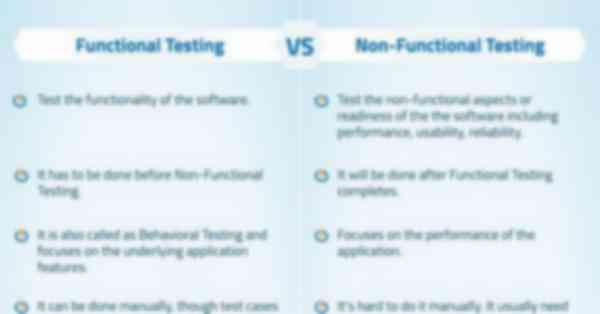 Functional Vs Non-Functional Testing