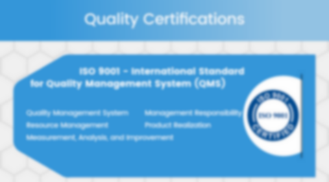 Quality Assurance Certifications